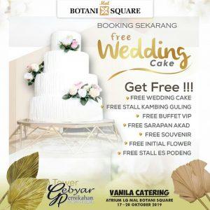 gebyar pernikahan botani square vanila catering